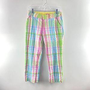 Lilly Pulitzer Main Line Fit Crop Pants Plaid